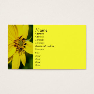 Yellow Daisy Flower Photography Business Card