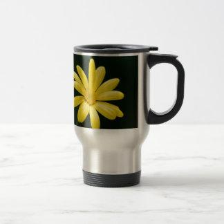 Yellow Daisy flower Stainless Steel Travel Mug