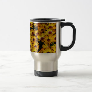 Yellow daisy flowers in spring mugs