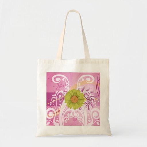 Yellow Daisy Flowers Pictures Design Canvas Bags