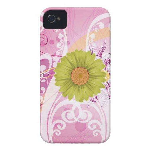 Yellow Daisy Flowers Pictures Design iPhone 4 Case