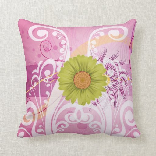 Yellow Daisy Flowers Pictures Design Throw Pillows