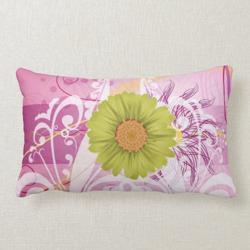 Yellow Daisy Flowers Pictures Design Pillows