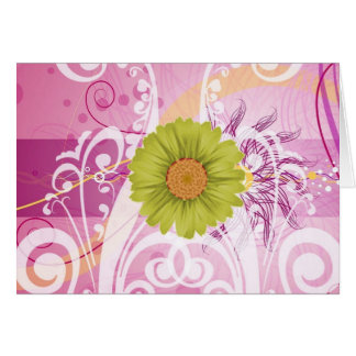 Yellow Daisy Flowers Pictures Design Greeting Card