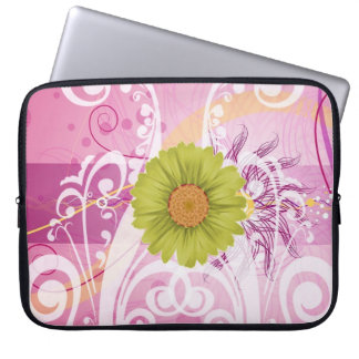 Yellow Daisy Flowers Pictures Design Laptop Sleeves