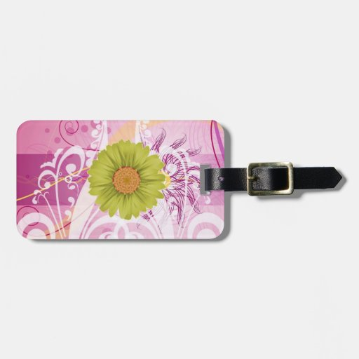Yellow Daisy Flowers Pictures Design Luggage Tags