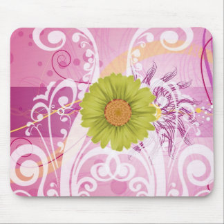 Yellow Daisy Flowers Pictures Design Mousepad
