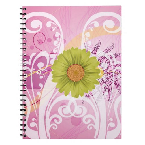 Yellow Daisy Flowers Pictures Design Notebook