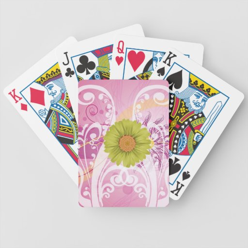 Yellow Daisy Flowers Pictures Design Bicycle Playing Cards