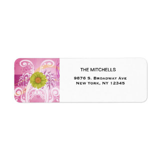 Yellow Daisy Flowers Pictures Design Return Address Label