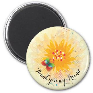 Yellow Daisy Friendship  Shape: Round Magnet
