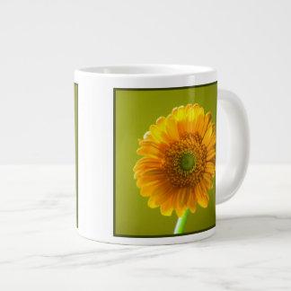 Yellow Daisy Gerbera Flower Jumbo Mug