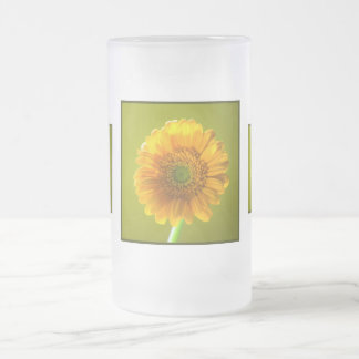 Yellow Daisy Gerbera Flower Mugs