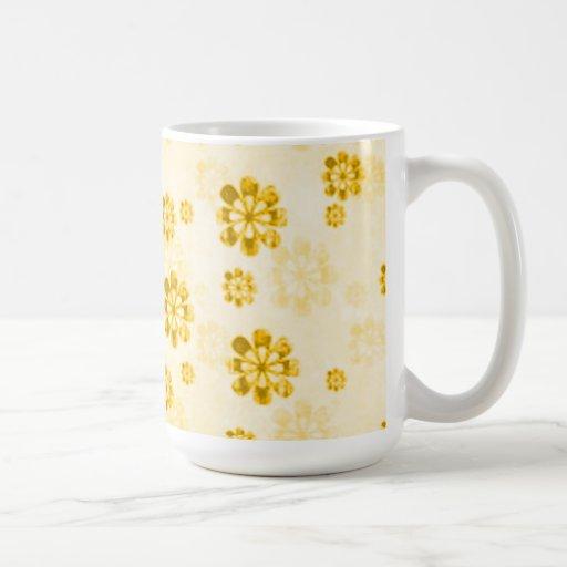 Yellow Daisy Grunge Coffee Tea Mug