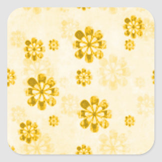Yellow Daisy Grunge Sticker