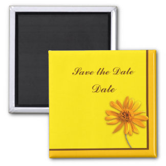 Yellow Daisy Square Magnet