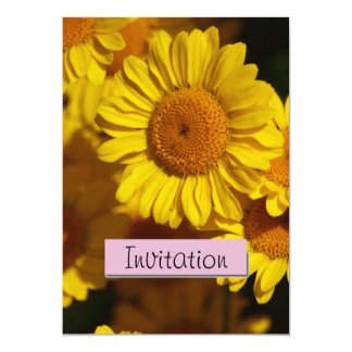 Yellow Daisy Party Announcement Invitation