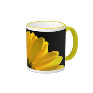 Yellow Daisy Ringer Mug