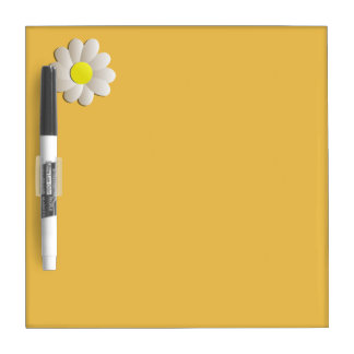 YELLOW DAISY SPRING TIME FLOWER DRY WRITTING BOARD DRY ERASE BOARD