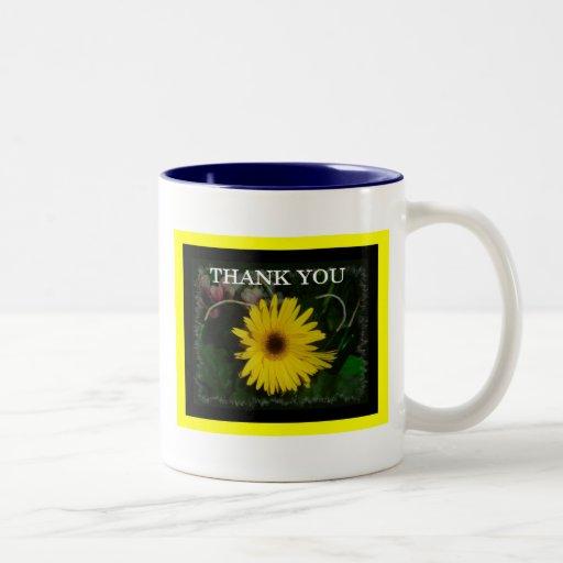 Yellow Daisy Thank You Mugs