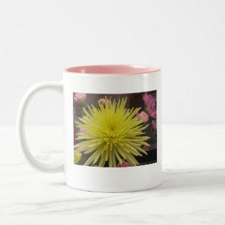 yellow daisy Two-Tone mug