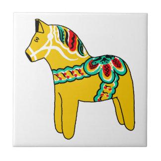 Yellow Dala Horse Tiles
