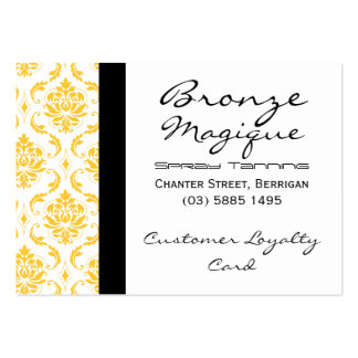 Yellow Damask Business Customer Loyalty Cards Pack Of Chubby Business Cards