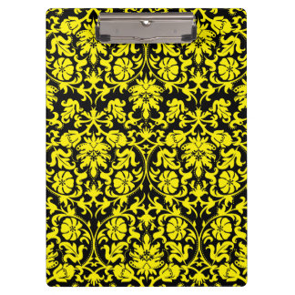 Yellow Damask Clipboard