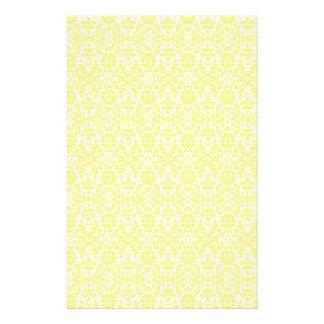 Yellow Damask Paper Stationery