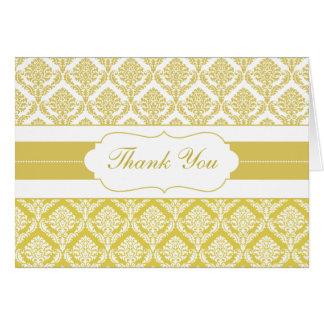 yellow damask ThankYou Cards