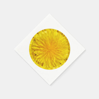 Yellow Dandelion Flower Photo Dot 0560 Disposable Serviettes