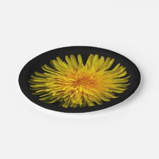 Yellow Dandelion Paper Plate