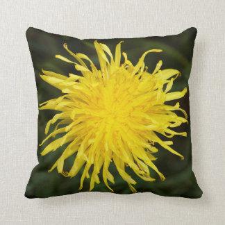 Yellow Dandelion Wildflower Garden Cushion