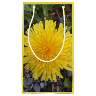 Yellow Dandelion Wildflower Gift Bag All Occassion