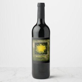 Yellow Dandelion Wildflower Summer Wine Label