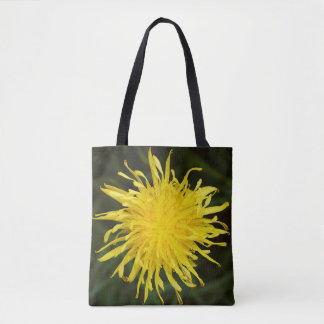 Yellow Dandelion Wildflower Tote Bag