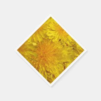 Yellow Dandelions Floral Photo 0558 Paper Serviettes
