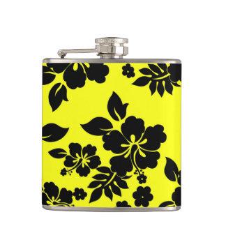 Yellow Dark Hawaiian Hip Flask
