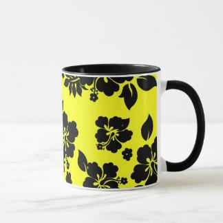 Yellow Dark Hawaiian Mug