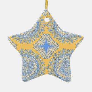 Yellow dawn ceramic ornament