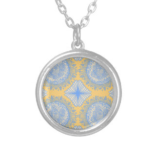 Yellow dawn silver plated necklace