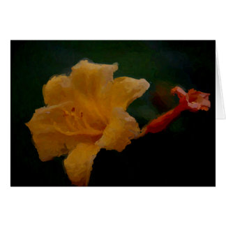 Yellow Day Lily Blank Card