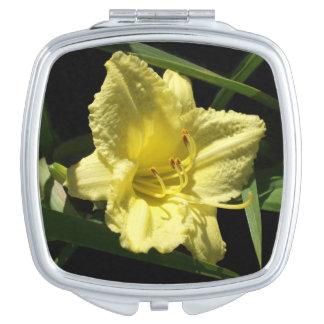 Yellow Daylily Flower Hemerocallis Mirror For Makeup