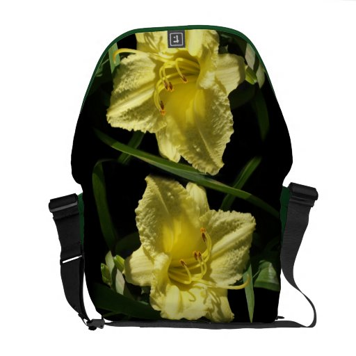 Yellow Daylily Flower Courier Bag