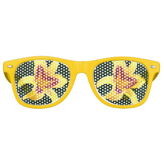 Yellow Daylily with Red Retro Sunglasses
