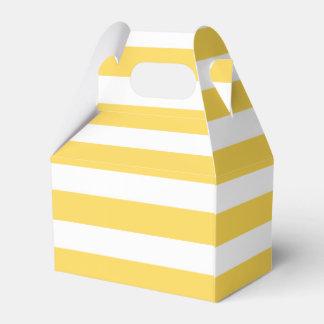 Yellow Deckchair Stripes Favour Box