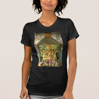 yellow Deities In Three Buddha Temple In Central H Tee Shirt