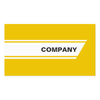 Yellow designed stripes unisex business card