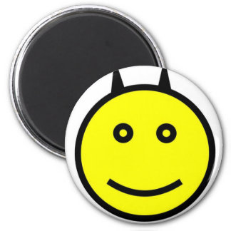 Yellow Devil 6 Cm Round Magnet