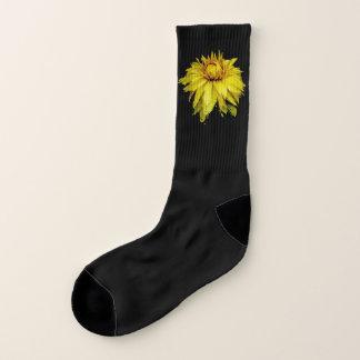 Yellow Dewy Dahlia Socks